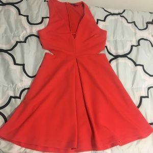 Express coral dress